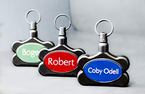 UnLeashed IDs Leash and Identification Tag- Tag Color and Engraved Name Personalized Post Purchase