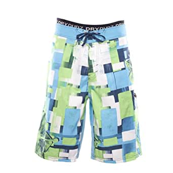 Dry Dudz Men's Hybrid Sunrise Beach Boardshorts Combo 28 Aqua