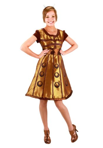 Elope Women's Doctor Who Gold Dalek Dress S/M