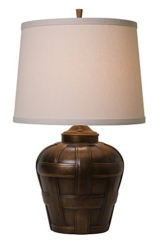 Thumprints 1176-ASL-2128 Ashbury Natural Shade Table Lamp, Antique Bronze Finish