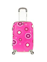 Rockland F151 Polycarbonate Carry On Luggage, Pink Pearl, One Size, 20-Inch