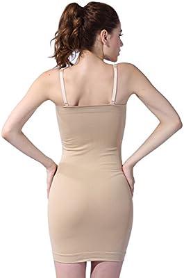 Franato Womens Seamless Body Shaper Slimming Tube Dress Shapewear Slips