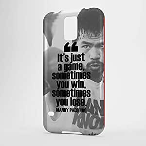 Manny Pacquiao Samsung S5 3D wrap around Case - Quote Its just a game