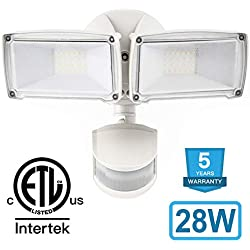 Amico 28W LED Security Lights Motion Outdoort, Motion Sensor Light Outdoor 2700LM 6000K Flood Lights (White)