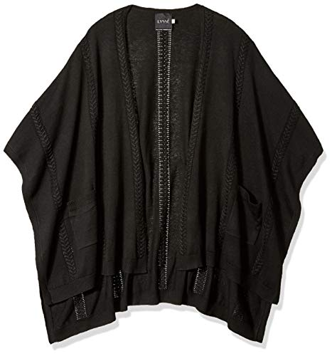 Lyssé Women's Size Plus Charlotte Sweater Wrap, Black, O/S ()