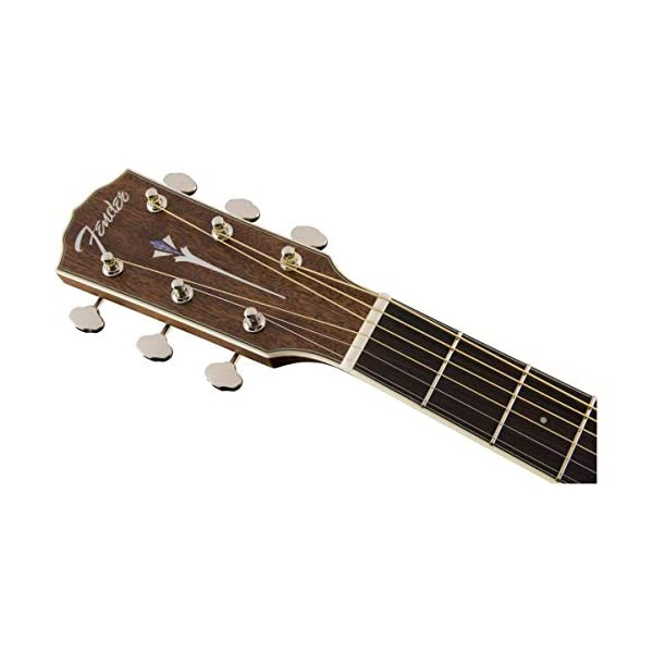 Fender PM-1 Dreadnought Acoustic Guitar, Left Handed – All-Mahogany