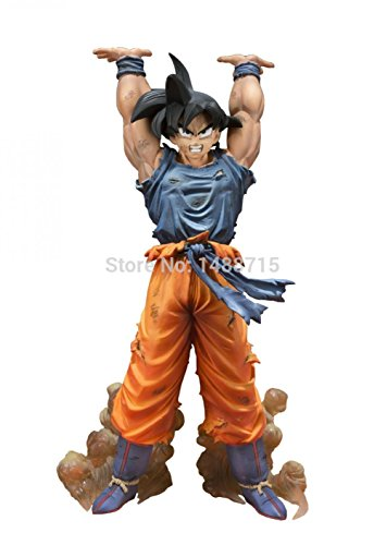 [Comic Akira Toriyama Dragon Ball Z Son Goku Spirit Bomb Ver. Battle 15CM Bandai Action Figure Toys] (Dragon Ball Costume With Tail)