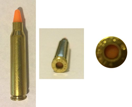 (ST Action Pro Pack Of 5 Inert .223 / 5.56 Orange Safety Trainer Cartridge Dummy Ammunition Ammo Shell Rounds with Nickel Case)