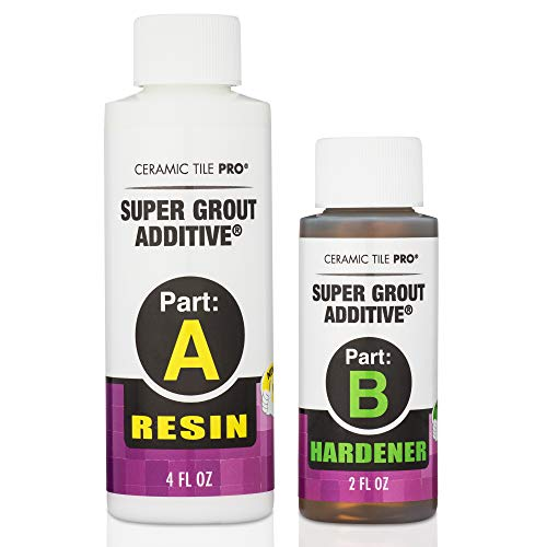 Tile Grout Repair Kit with Waterproof Penetrating Sealer - Restores Cracked Shower Bathroom Tile Grout - Kit Includes Applicator - Gloves - Mixing Cups & Sticks - Makes 18 oz Epoxy Grout