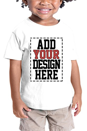 (Custom Shirts for Toddlers - Design Your OWN Kids Shirt - Personalized Outfits for Babies White)