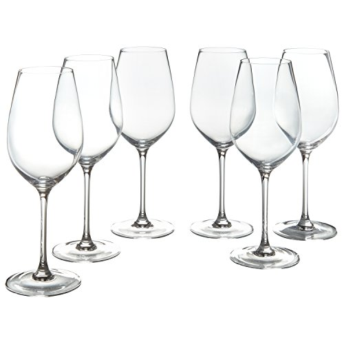 Stone & Beam Traditional White Wine Glass, 16-Ounce, Set of - Rods Crystal Lead