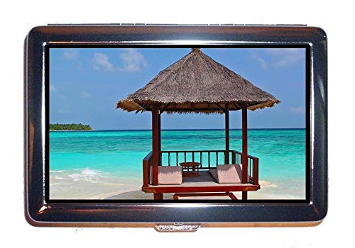 Steel Case Crew Chair - Wallet or Cigarette Case,Beach Beach Chairs cloudscape,Protection Credit Business Card Holder Case