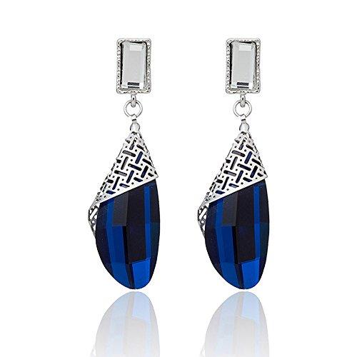 Shining Diva Fashion Blue Crystal Stylish Earrings for Women and Girls (9571er)