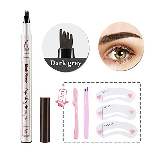 Eyebrow Tattoo Pen Waterproof Microblading Eyebrow Pencil with a MicroFork Tip Applicator Creates Natural Looking Brows Effortlessly