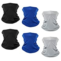 6 PCS Sun UV Protection Face Mask Neck Gaiter Windproof Scarf Sunscreen Breathable Bandana Balaclava for Sport&Outdoor…