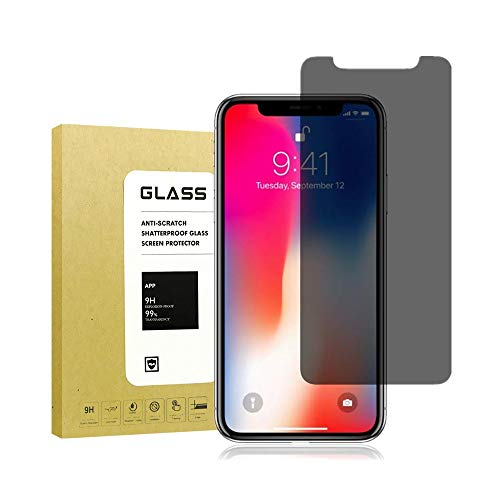 [2Pack] for iPhone X Privacy Anti-Spy Screen Protector Full Coverage,Sarimax[9H Hardness][3D Touch][Bubble Free][Anti-Scratch] Tempered Glass Screen Protector for iPhone X/iPhone 10