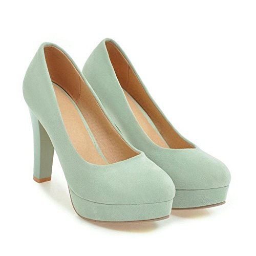 Chaussures Hauteur Femme Talon RAZAMAZA Aiguille Vert Escarpins zqxgC