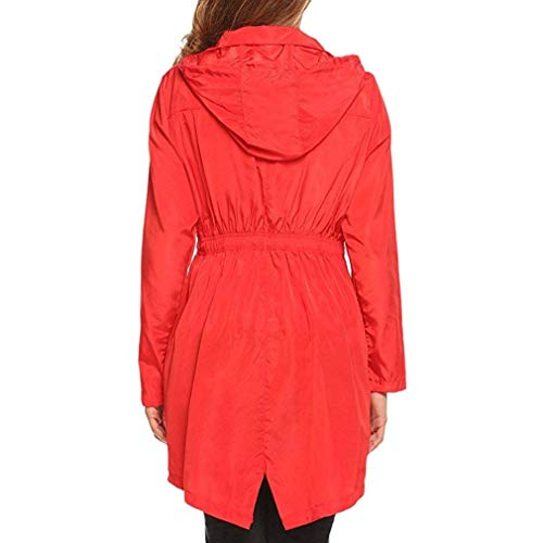 Cerniera Pioggia Impermeabile Tasche Elegante Monocromo Raincoat Donna Con Invernali Cute Chic Anteriori Rot Lunga Giacca Antivento Autunno Antipioggia Moda Bavero Manica Coulisse wwHUAaq