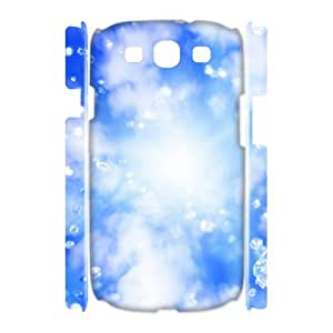 3D Samsung Galaxy S3 Case, Cheap Ice Under the Sky Case for Samsung Galaxy S3 {White}