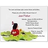 little ladybug baby shower invitations set of 20