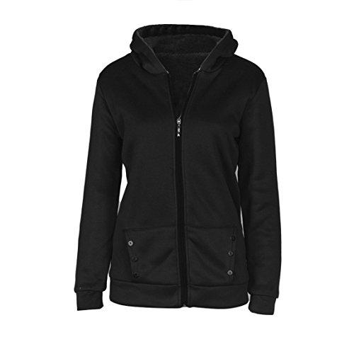 Nadition Warm Winter Coat Clearance ♥ Women Jacket Parka Overcoat Long Outwear Clothes (Black, 2XL) (Solid Sleeve Overcoat Women)