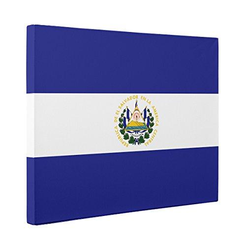 El Salvador Flag CANVAS Wall Art Home Décor