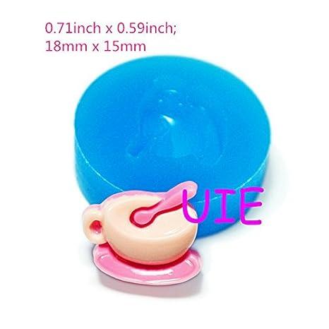 163LBF taza de silicona flexible molde Mini molde de resina decoración molde Kitsch joyas charms casa