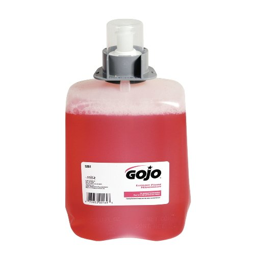 GOJO Industries 5261-02 GOJO 2000 ml Refill Clear Pink FMX-20 Cranberry Scented Luxury Foam Hand Wash, Plastic, 1