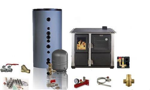 Küchenofen Kaminofen Wasserführend Teba T-22 - 16-27 kW Komplettset