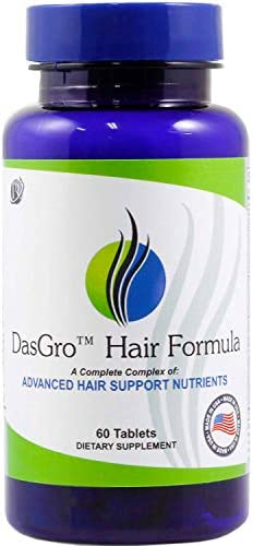 DasGro Hair Growth Vitamins, Biotin DHT Blocker, Stops Hair Loss, Thinning, Balding, Promotes Hair Regrowth in Men Women, All Hair Types, 30 Day Supply
