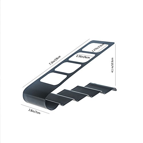 Remote Control Organizer, Space Saving Metal TV Remote Control Storage Organizer/Caddy/Rack/Organizer, Black Storage Organizer Rack for Remote Holde/TV Remote Control(black)
