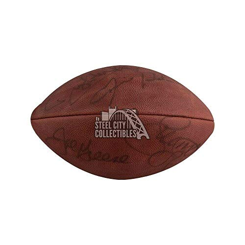 (Steel Curtain Autographed Authentic NFL Wilson Football - COA (Please Note) - JSA Certified - NFL Cut Signatures)