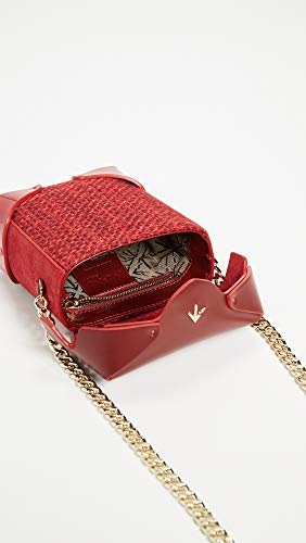 Box Women's Micro Pristine Bag Atelier with Red Chain Gold MANU IU1w75
