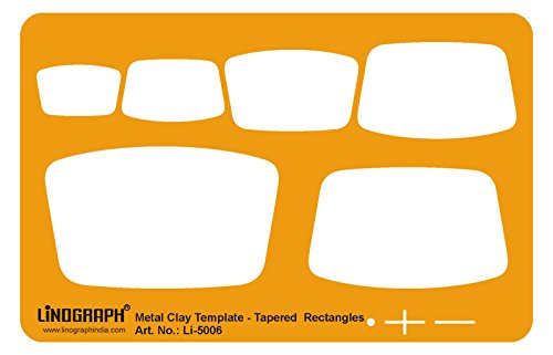 Linograph Metal Clay Crafting Tapered Rectangles Template Shapes Stencil (Tapered Shape)