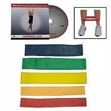 Workoutz 5-piece Butt Lift Ankle Resistance Band Set with Free Bonus DVD