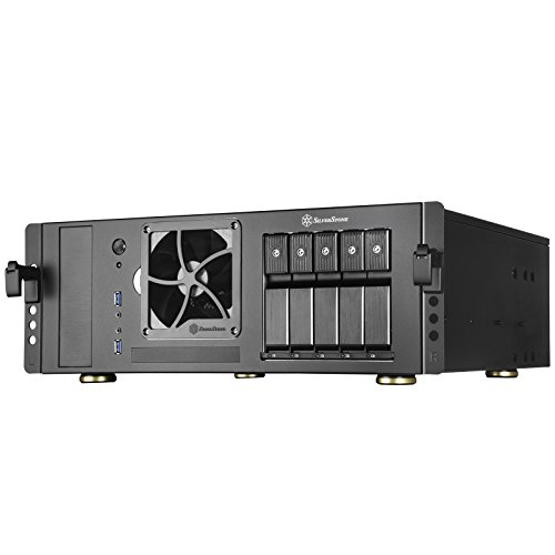 SilverStone Technology SST-CS350B ATX Rack mountable Server Case with 5 SATA/SAS 6 Gbit/s Trays and standard PSU Support
