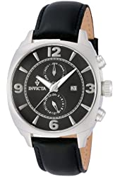 Invicta Vintage GMT Black Dial Stainless Steel Mens Watch 12205