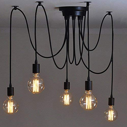 Lights & Lighting Professional Sale 6 Lights Adjustable Diy American Country Industrial Warehouse Vintage Spider Ceiling Lamps Lamp For Home Decoration Living Room Finely Processed Ceiling Lights