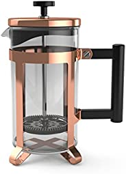 bonVIVO GAZETARO III Large French Press Coffee Maker - Glass French Coffee Press Machine Made of Heat Resistan