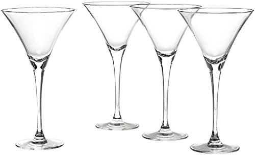 Lenox Tuscany Classics Martini Glasses, Set of 4, Black - 6115711