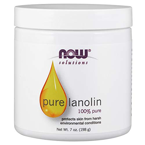 NOW Solutions, Pure Lanolin, Wind and Harsh Environment Skin Protectant, Thick Jelly, For Rough Dry Skin, 7-Ounce