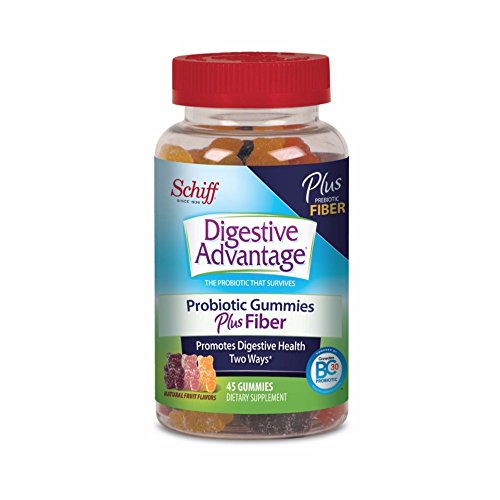 Digestive Advantage Probiotic Gummies Plus Fiber, 45 count (Pack of 10) by Digestive Advantage