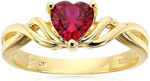 Sterling Silver Crisscross Heart Ring