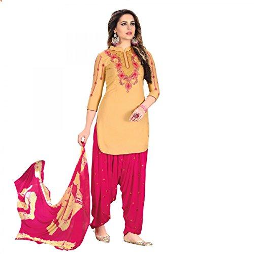 - Delisa Patiala Salwar Embroidered Cotton Salwar Kameez Suit India/Pakistani Dress (Light Green, SMALL-38)
