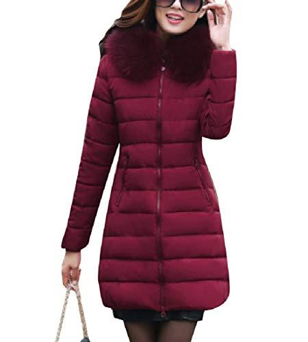 Jacket Blackish with Faux Oversized Brumal Green EnergyWomen Hood Fur Thickened Anorak xZOHqwa8