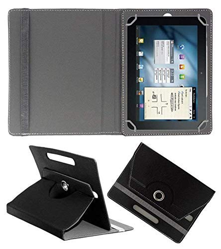 VCM 360 Rotating 7 Inch Flip Case Cover Book Cover for Lenovo Tab 2 A7 30 Tablet Cover Black