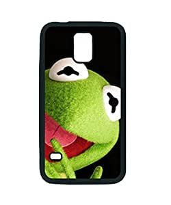 THE MUPPETS - KERMIT ~ Fashion Durable Unique RUBBER Durable Case Cover Skin for Samsung Galaxy S5 i9600 - Black Silicone Case / ABCone Tpu Protective S5 Case
