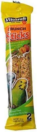 2 Pack Vitakraft Treat Parakeet Fruit Stick 2 Treats Per Pack 4 Treats Total