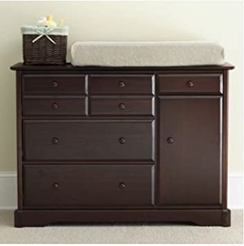 Rockland Hartford Changing Table   Coffee   Bedroom Furniture   Kids Room  Collection   Drawer Dresser