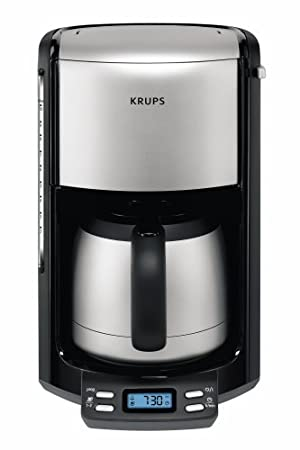 Krups Pro Aroma Filter Coffee Machine With Thermo Jug Steel